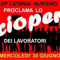 ASP Catania:  NurSind proclama lo sciopero dei lavoratori